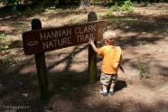 Starting on the Hannah Clark Nature Trail