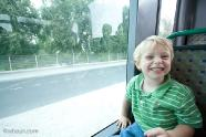 Trey is excited to ride the bus into Montpellier